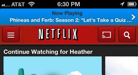 Now Playing on Netflix for iPhone
